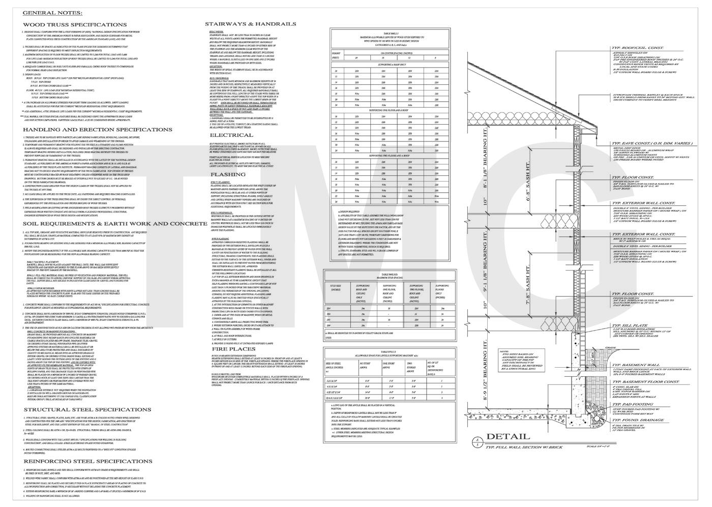 Residential Electrical Plan General Notes Wiring Library Details And Foundation