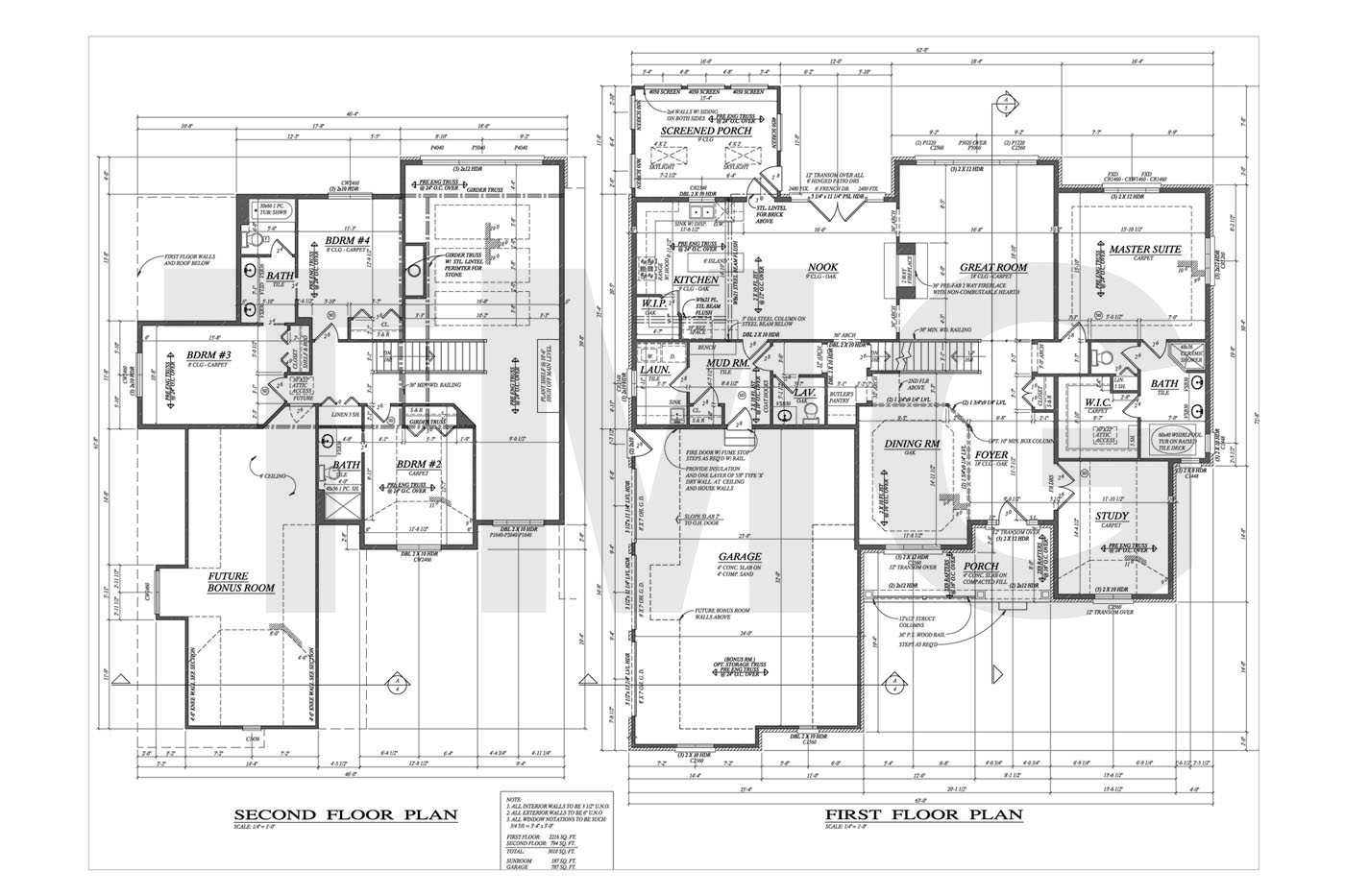 First & Second Floor Plan · Electrical Plan
