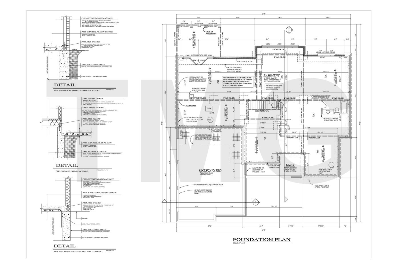 Foundation, Floor and Electrical Plans
